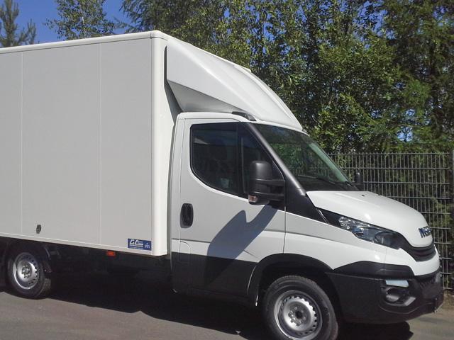 LKW Kofferaufbau mit Alu-Koffer von Grimm und Partner Fahrzeugbau