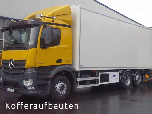 LKW Nutzfahrzeug im Kofferaufbau von Grimm und Partner Fahrzeugbau Suhl