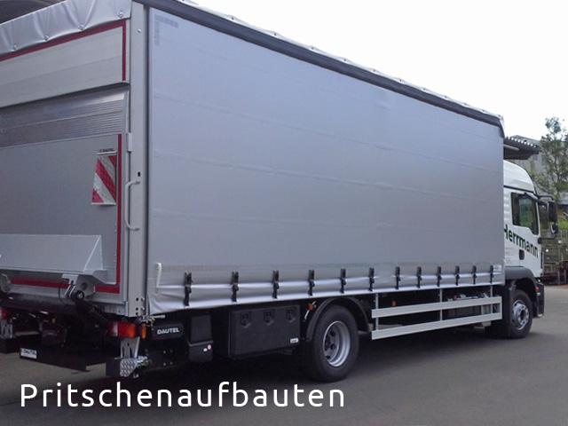 LKW Nutzfahrzeug im Pritschenaufbau von Grimm und Partner Fahrzeugbau Suhl